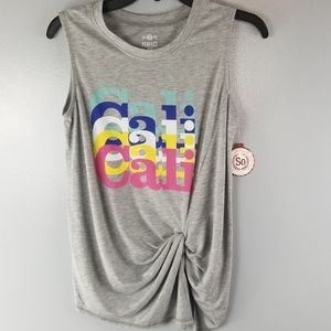 NWT SO Perfect Cali Tank with front gather small